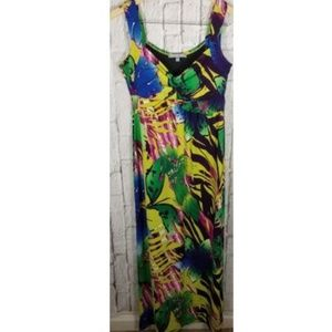 NY Collection Floral Maxi Dress Sz M 8 10